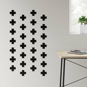 Removable wall decals black plus sign stickers